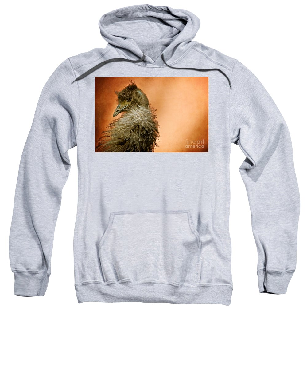 Emu Sweatshirt featuring the photograph That Shy Come-hither Stare by Lois Bryan