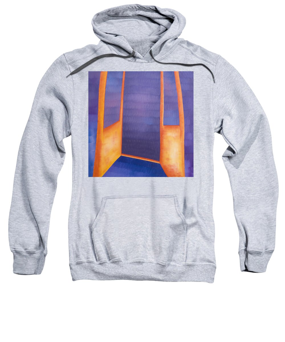 Death Sweatshirt featuring the painting The Arrival by Judy Henninger