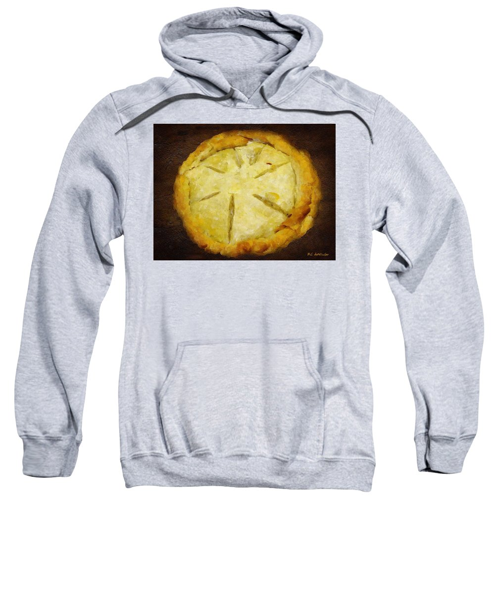 Pie Sweatshirt featuring the painting The Art Of The Pie by RC DeWinter