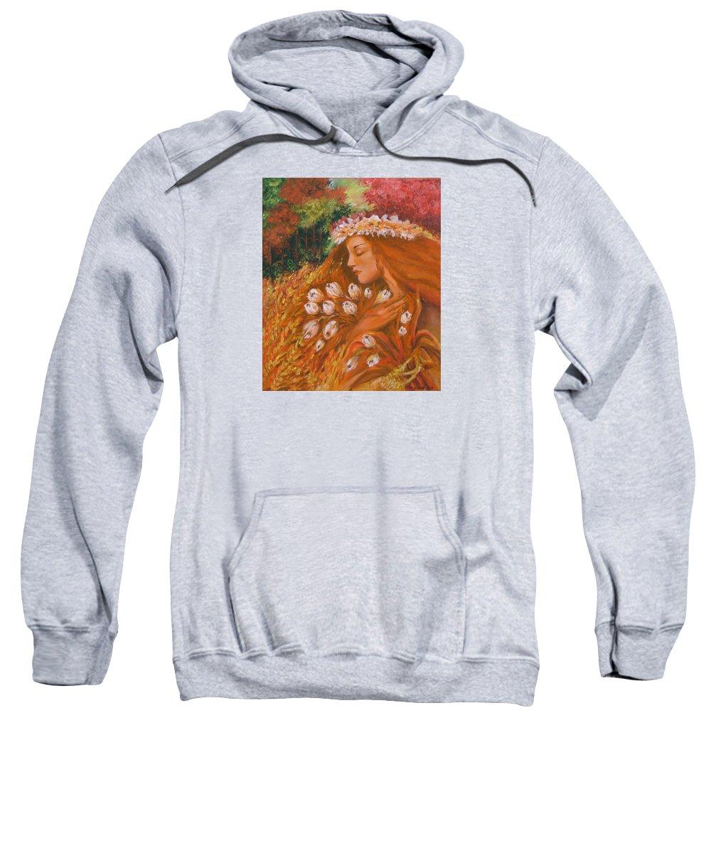 Acrylic Sweatshirt featuring the painting Autumn by Rita Fetisov