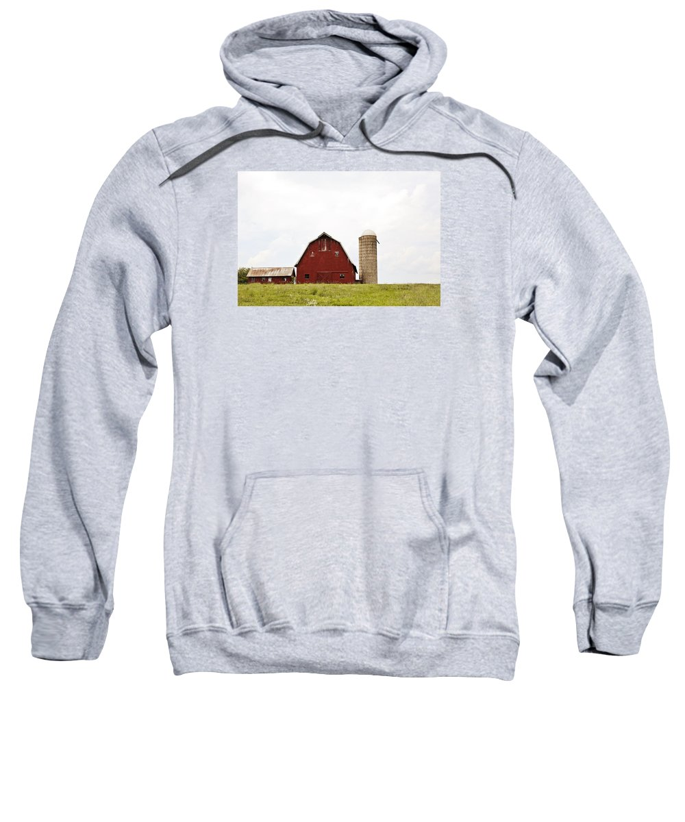 Barn Sweatshirt featuring the photograph The Barn - Color by Meg Porter