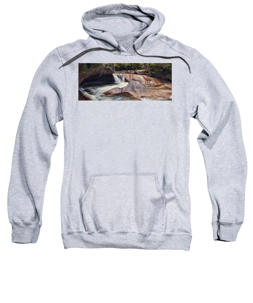 The Basin Sweatshirt featuring the photograph The Basin Pano by Heather Applegate