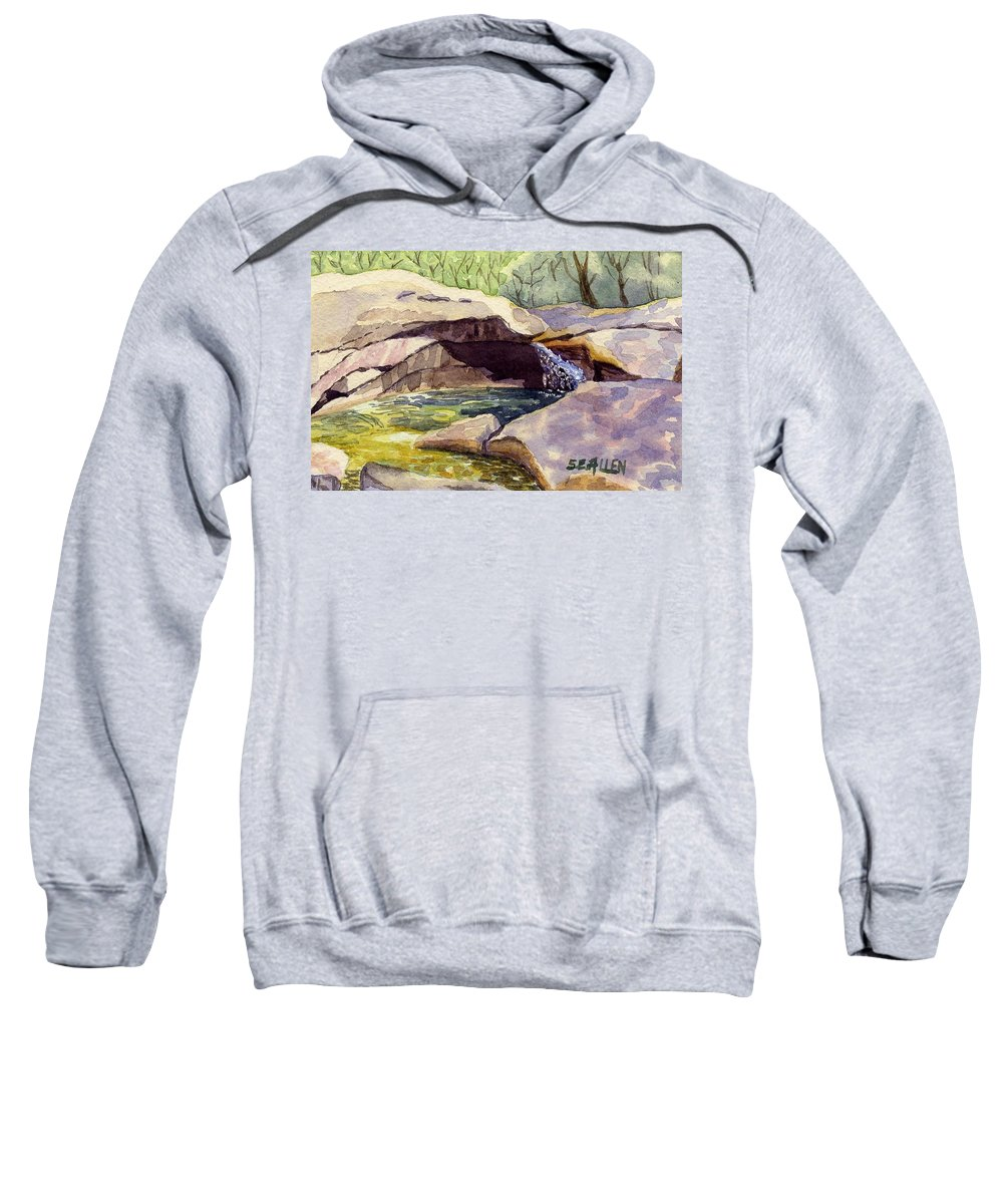 The Basin Sweatshirt featuring the painting The Basin by Sharon E Allen