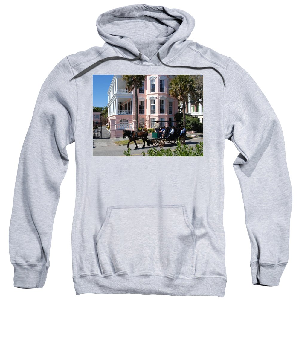 Photography Sweatshirt featuring the photograph The Battery In Charleston by Susanne Van Hulst