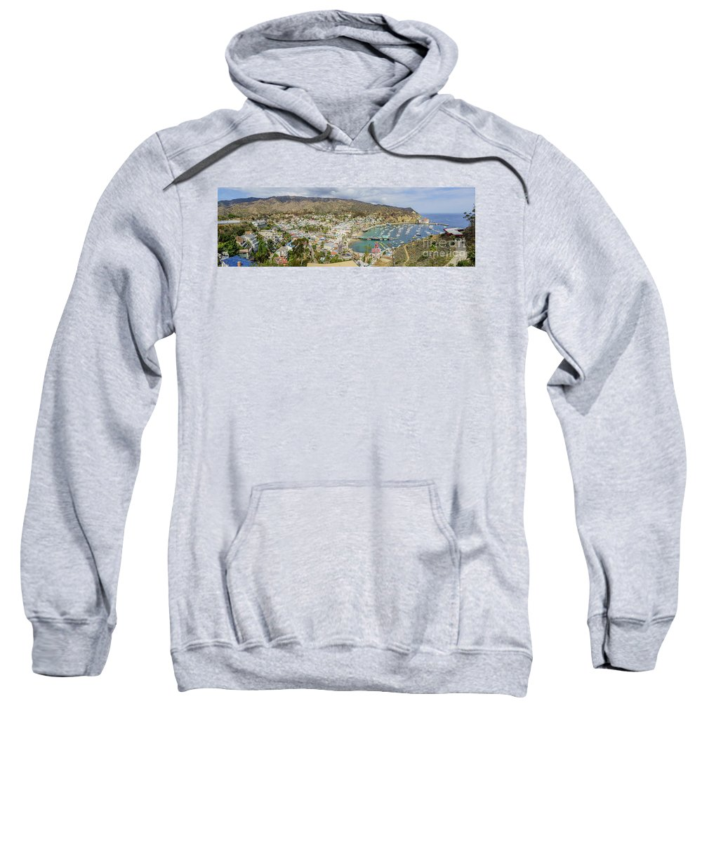 Avalon Sweatshirt featuring the photograph The Beautiful Catalina Island by Chon Kit Leong