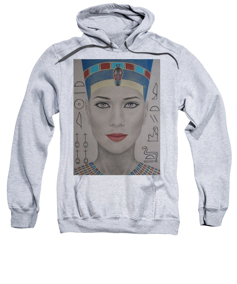 Woman Sweatshirt featuring the painting The Beautiful One Has Come by Lynet McDonald