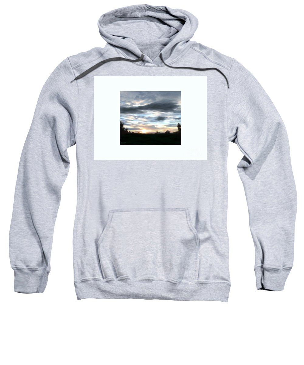 Photography Sweatshirt featuring the photograph The Beginning Of Sunset by Debra Lynch