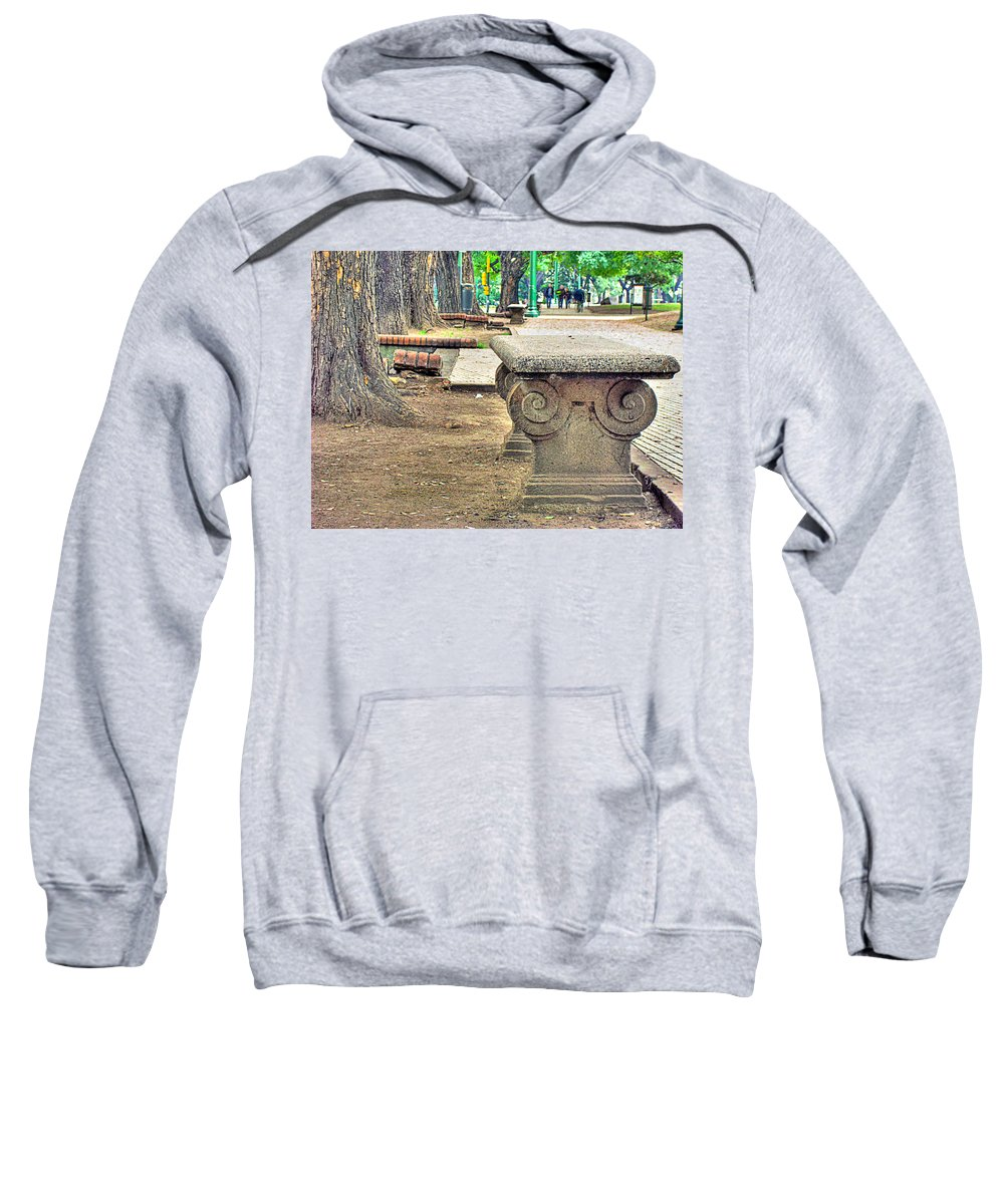 Bench Sweatshirt featuring the photograph The Bench by Francisco Colon
