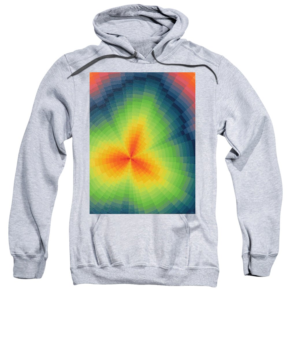 Oil Sweatshirt featuring the painting The Big Bang by Peter Antos