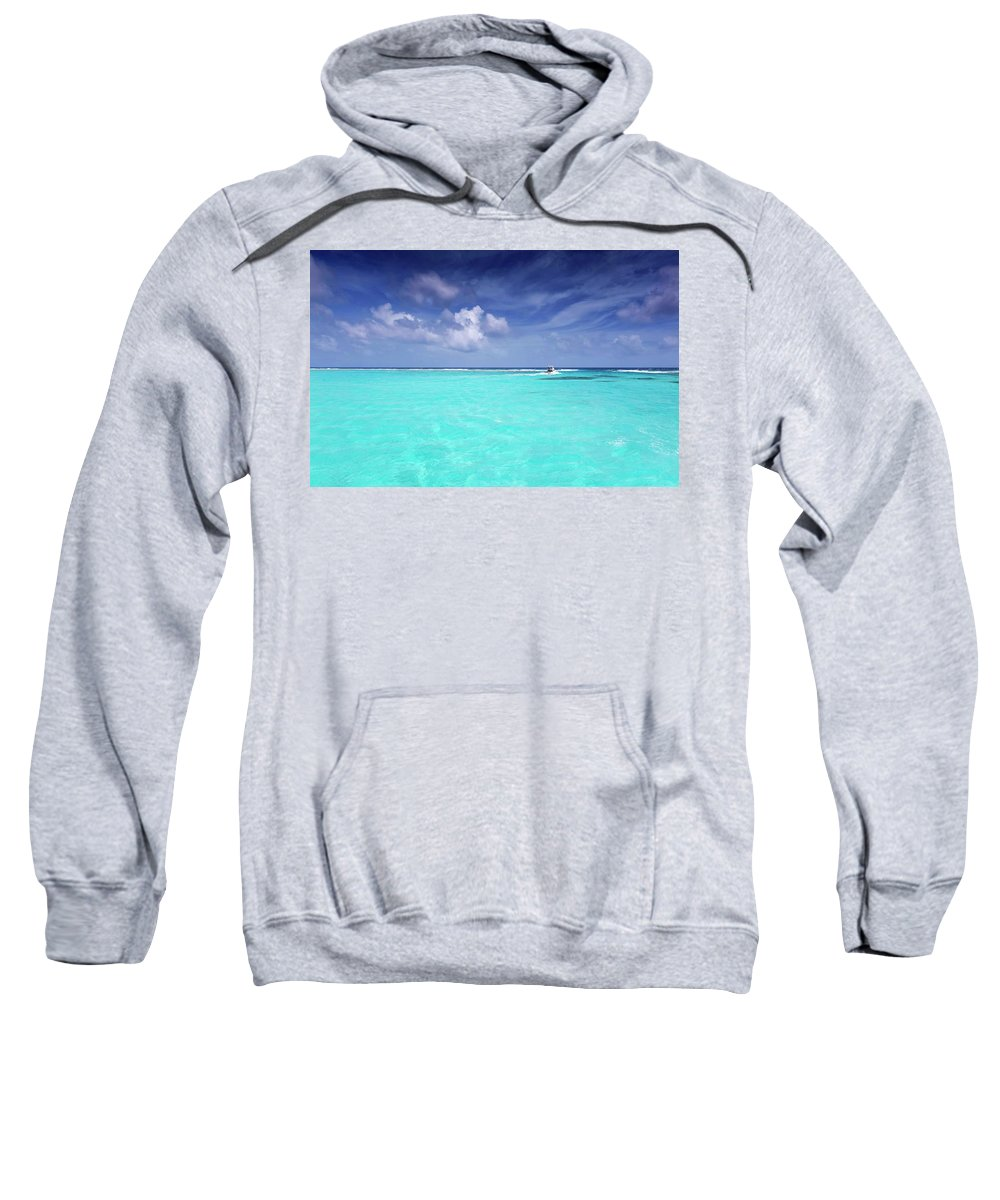 Ocean Sweatshirt featuring the photograph The Big Blue by Stephen Anderson