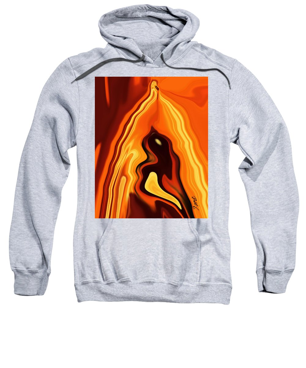 Art Sweatshirt featuring the digital art The Bird In The Case by Rabi Khan