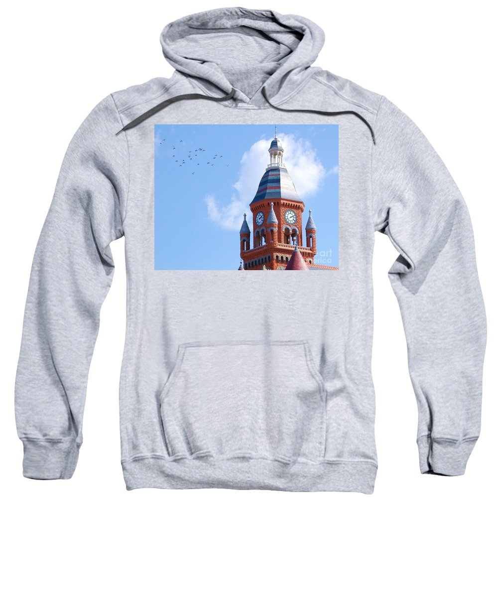 Clock Sweatshirt featuring the photograph The Birds by Debbi Granruth