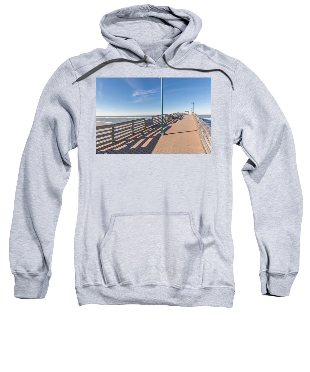 Beach Sweatshirt featuring the photograph The Boardwalk by Joseph Toth