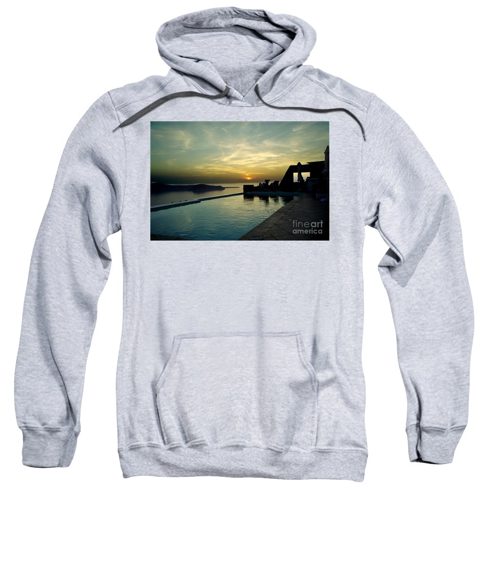 Caldera Sweatshirt featuring the photograph The Caldera View In Santorini by Madeline Ellis
