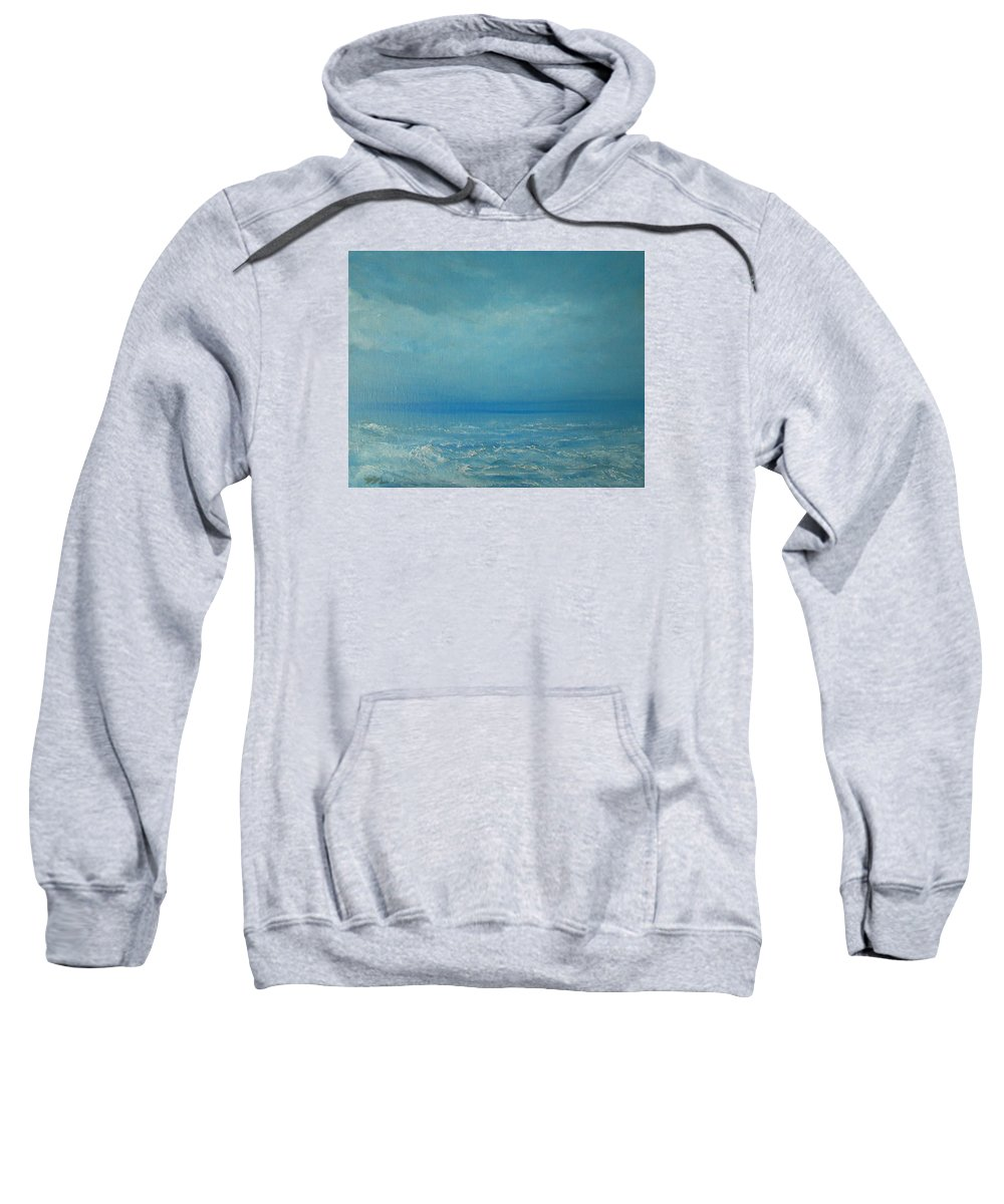 Seascape Sweatshirt featuring the painting The Calm Before The Storm by Jane See