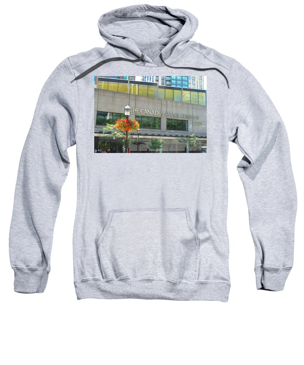 Canada Sweatshirt featuring the photograph The Canadian Stage Company by Ian MacDonald