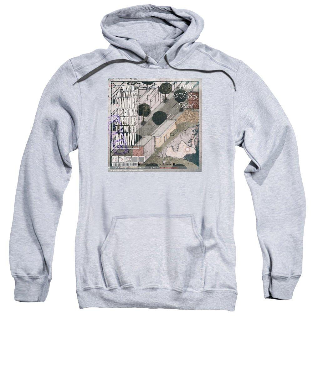 Grunge Sweatshirt featuring the drawing The Candyman by Nika Zautashvili