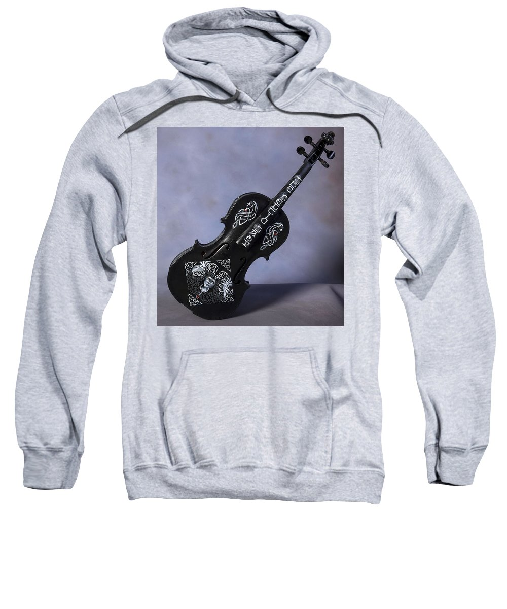 Violin Sweatshirt featuring the painting The Celtic Lady 2 by Richard Le Page