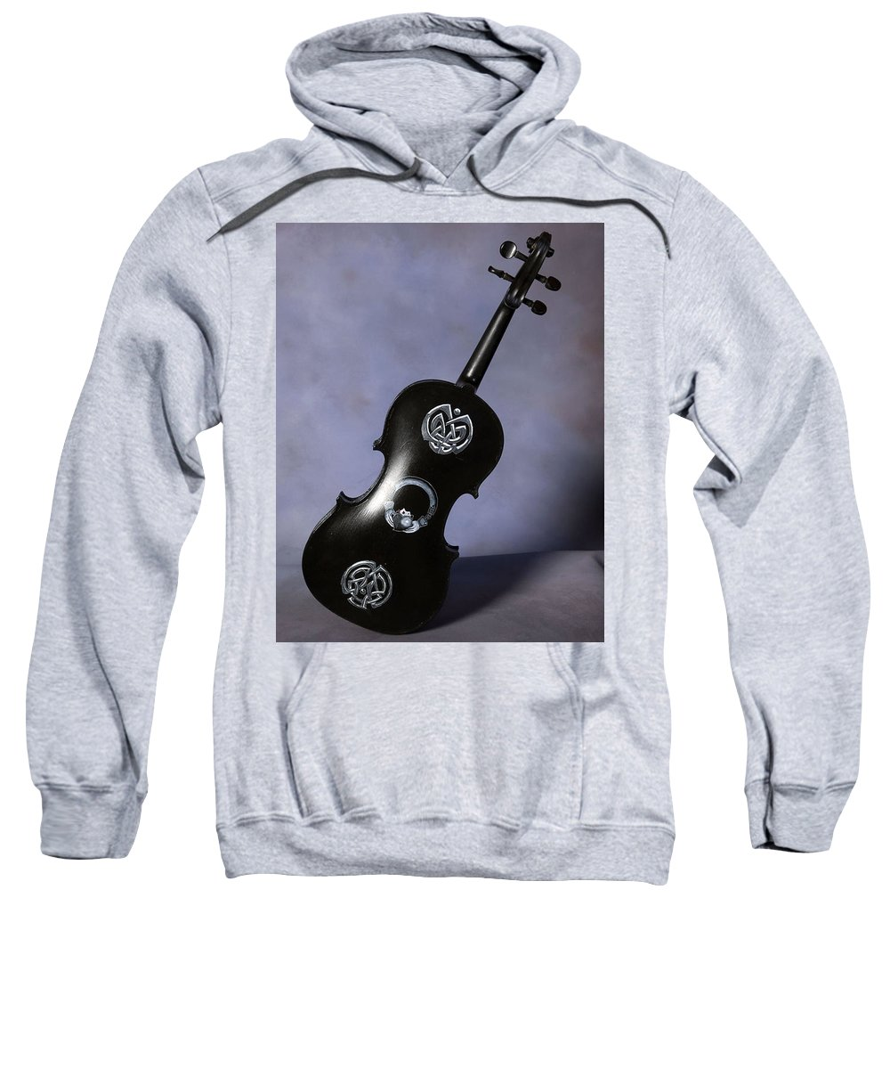 Violin Sweatshirt featuring the painting The Celtic Lady 3 by Richard Le Page
