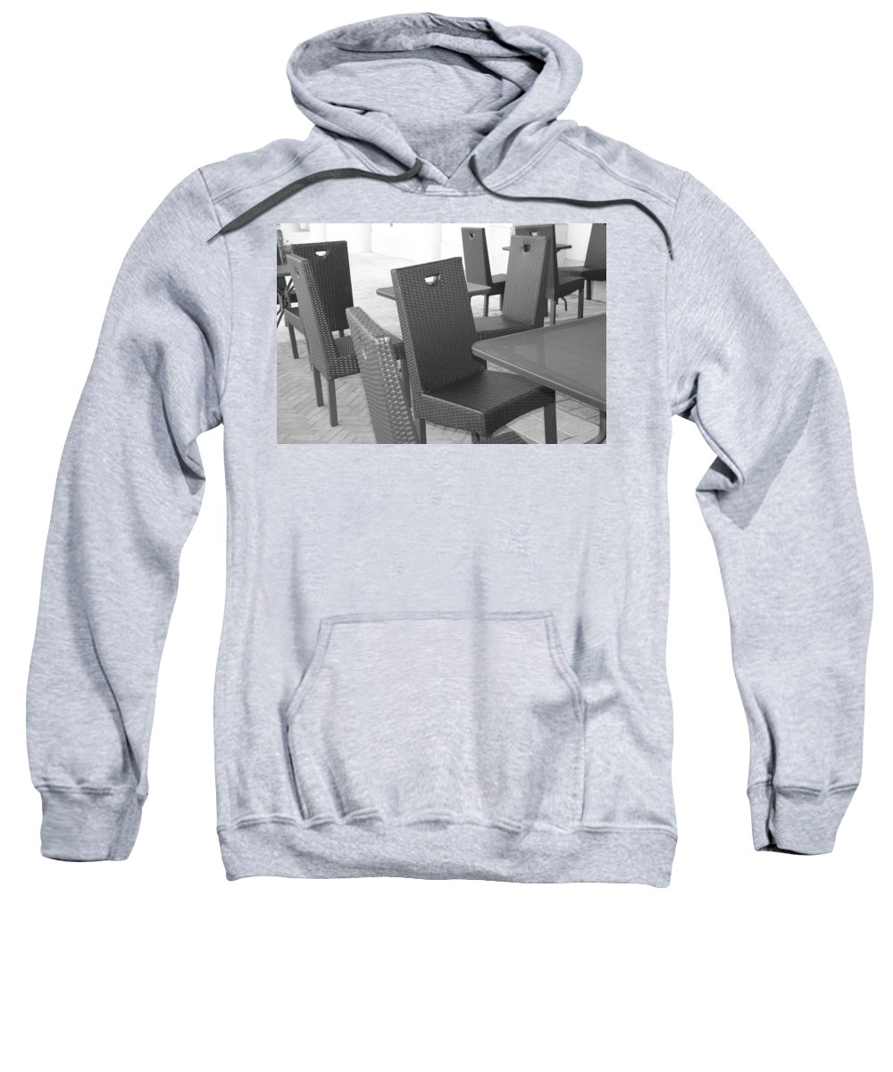 Pop Art Sweatshirt featuring the photograph The Chairs by Rob Hans