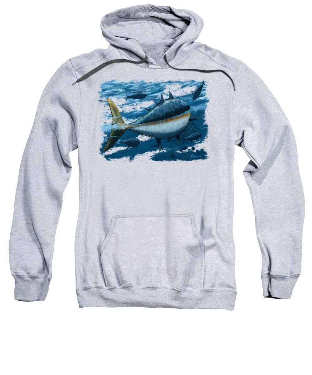 Tuna Sweatshirt featuring the digital art The Chase by Kevin Putman