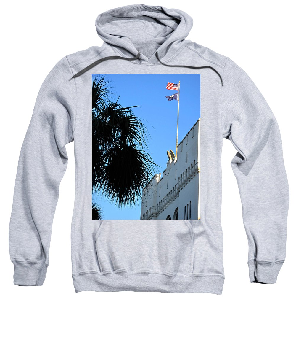 Photography Sweatshirt featuring the photograph The Citadel In Charleston by Susanne Van Hulst