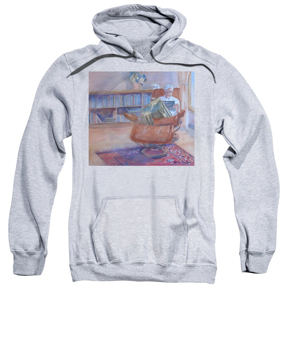 Man Sweatshirt featuring the painting The Civilized Engineer by Jenny Armitage