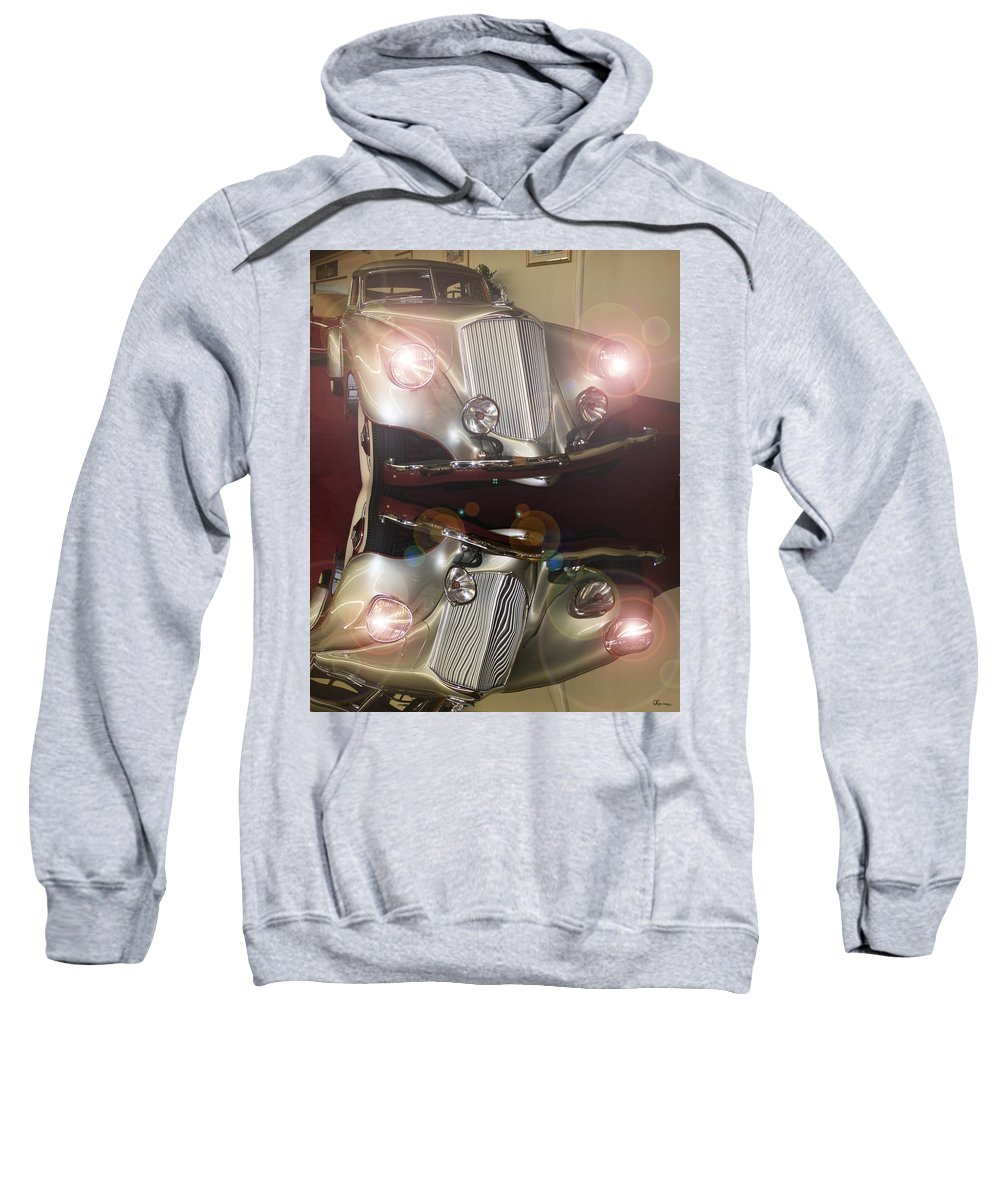 Classic Car Antique Vehicle Rolls Royce Photo Car Show Collector Automobile Chrome Sweatshirt featuring the photograph The Classic 1 by Andrea Lawrence