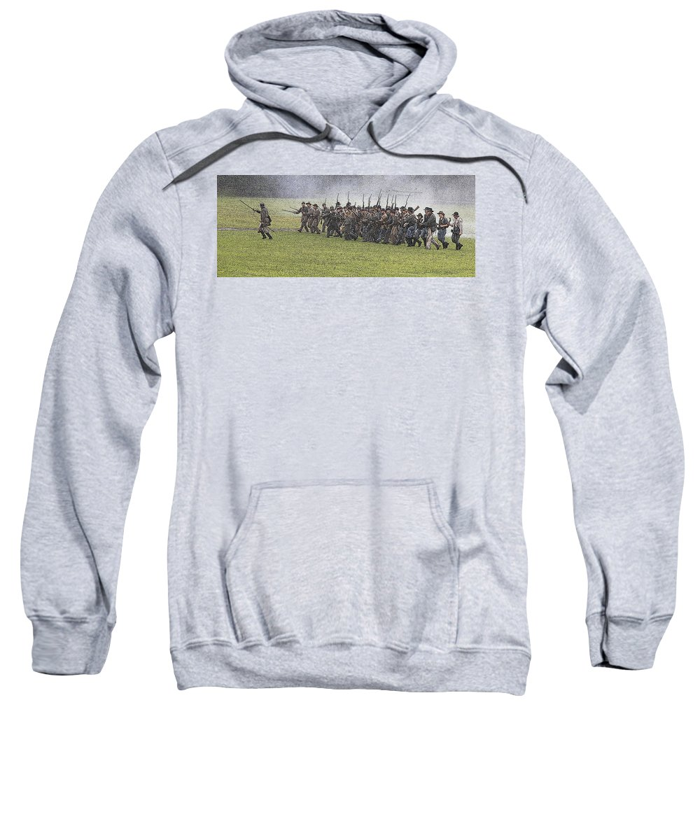 Civil War Sweatshirt featuring the photograph The Conflict by Robert Pearson