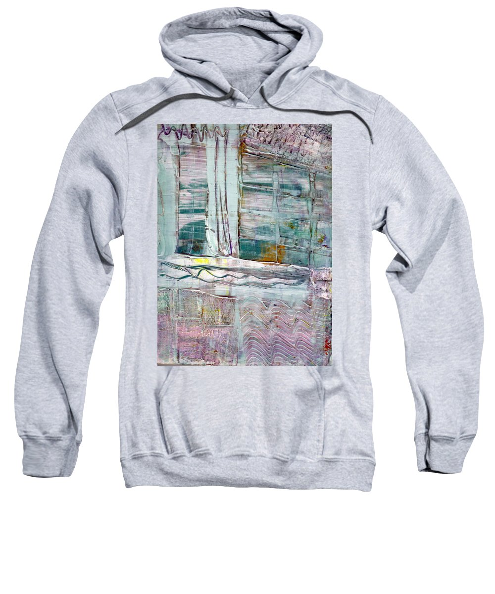 Abstract Sweatshirt featuring the painting The Corner Window by Wayne Potrafka