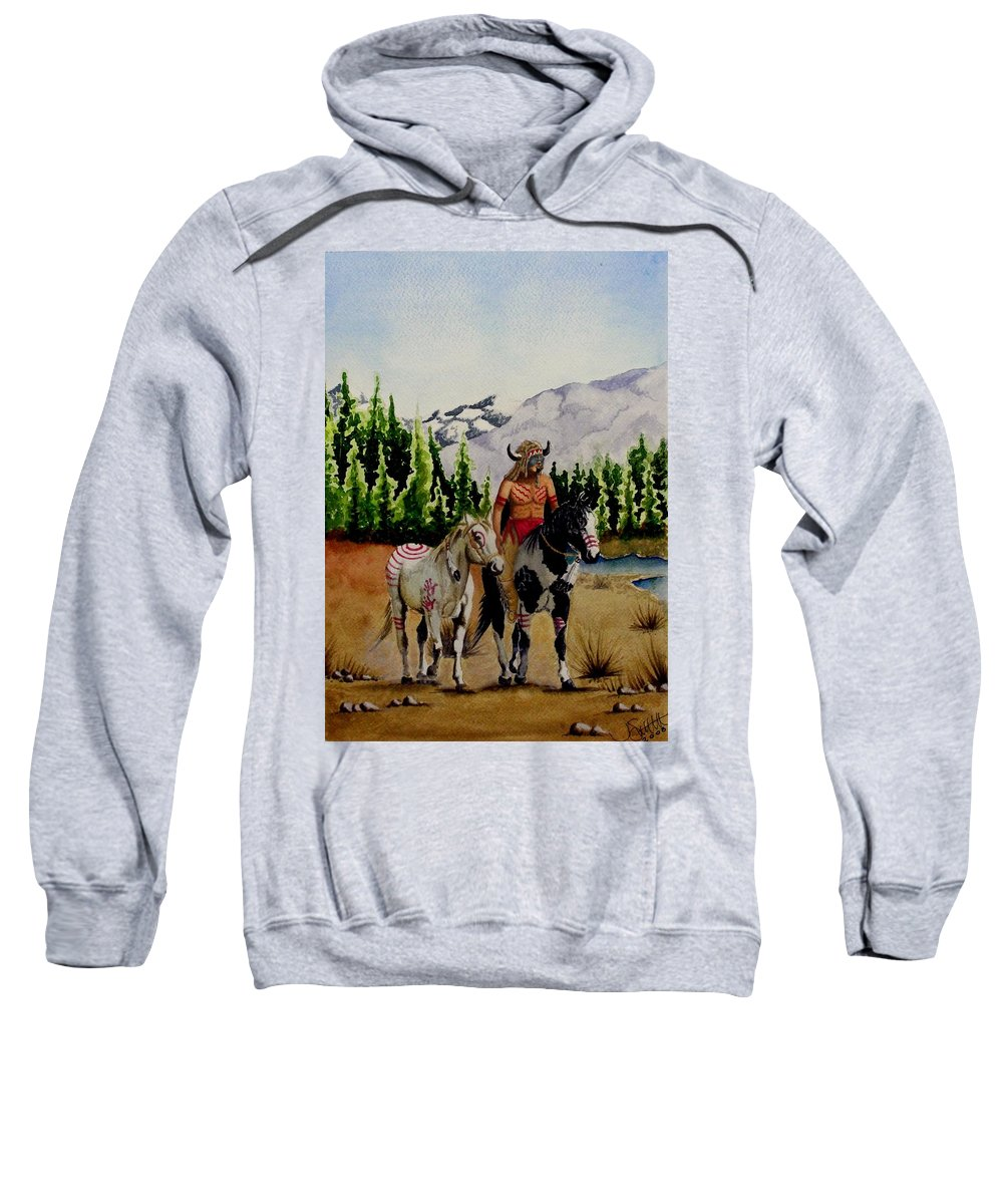 American Sweatshirt featuring the painting The Crossing by Jimmy Smith