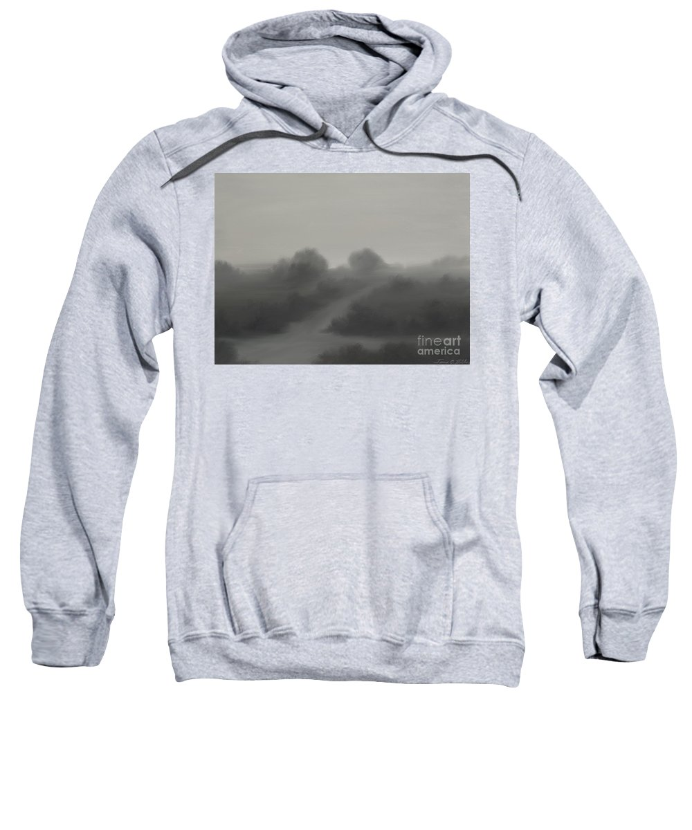 Landscape Sweatshirt featuring the painting The Crossroads by James Christopher Hill