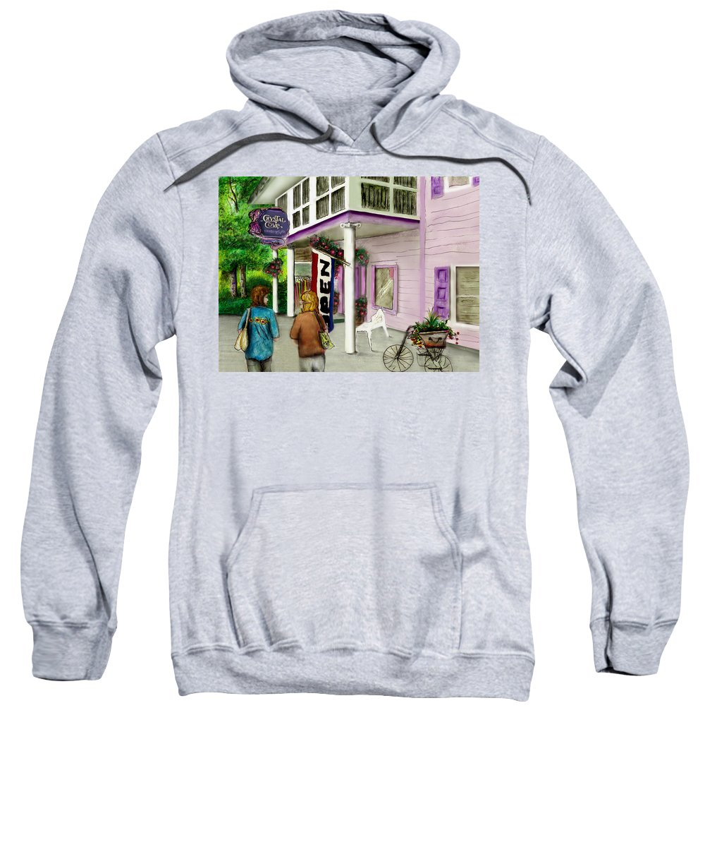 Crystal Cove Sweatshirt featuring the drawing The Crystal Cove At Lilydale Ny by Albert Puskaric
