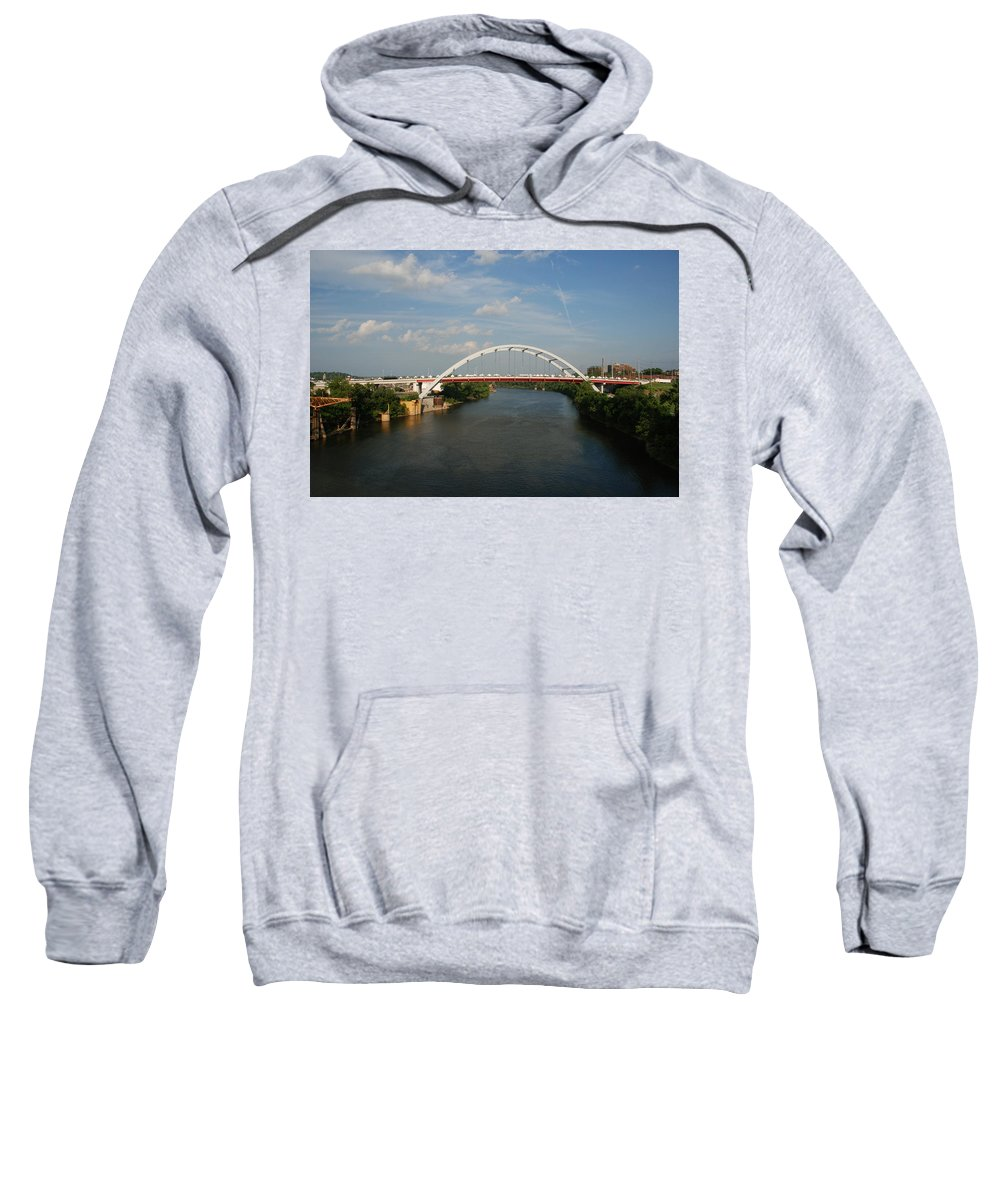 Nashville Photos Sweatshirt featuring the photograph The Cumberland River In Nashville by Susanne Van Hulst