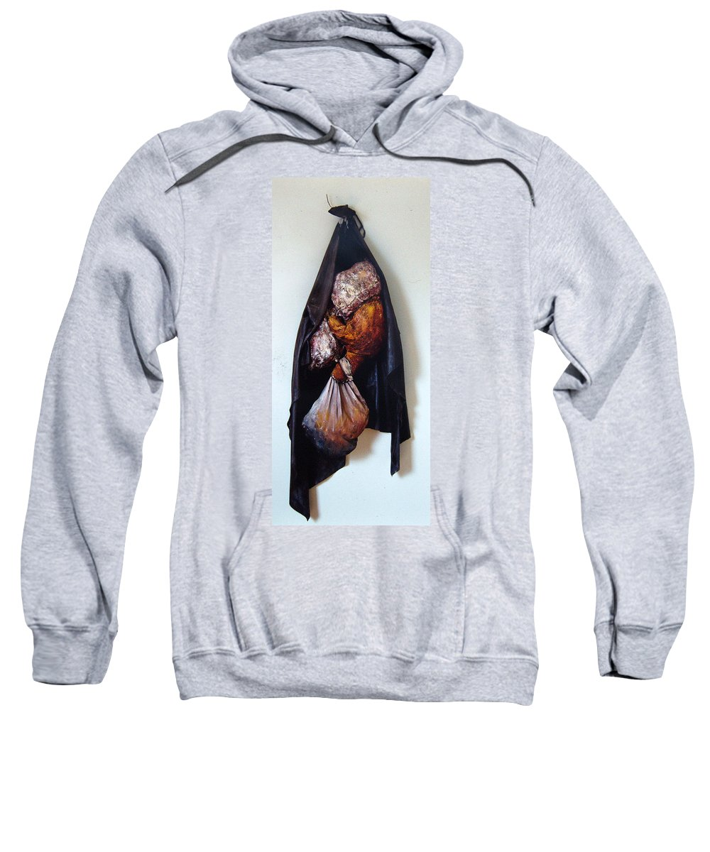 Acrylic Sweatshirt featuring the painting The Curtain by Nancy Mueller