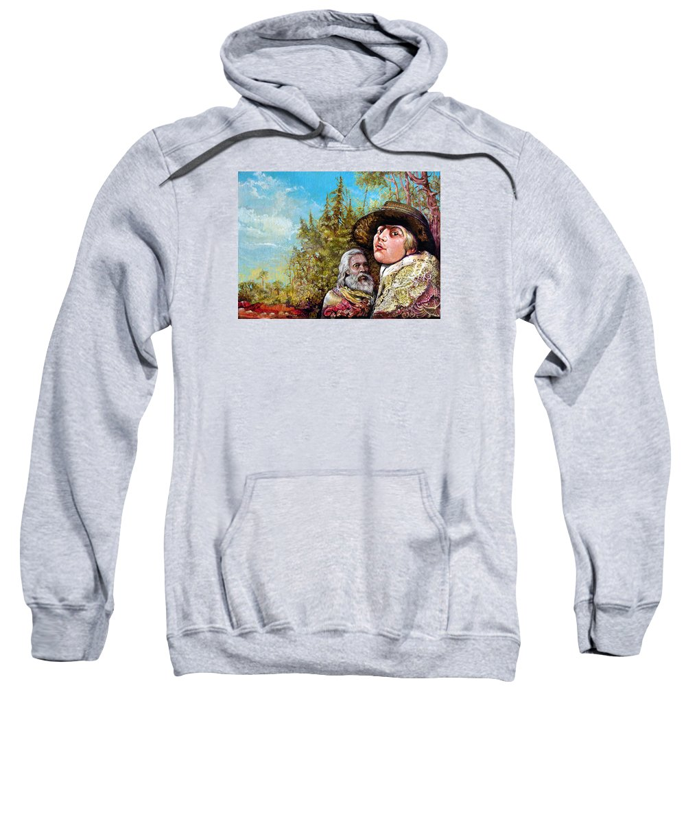 Surrealism Sweatshirt featuring the painting The Dauphin And Captain Nemo Discovering Bogomils Island by Otto Rapp