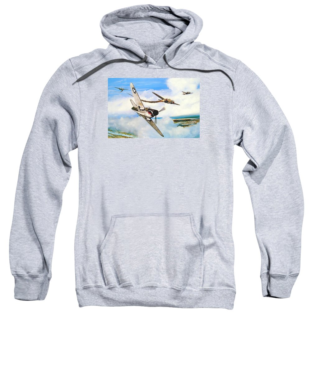 Military Sweatshirt featuring the painting The Day I Owned The Sky by Marc Stewart