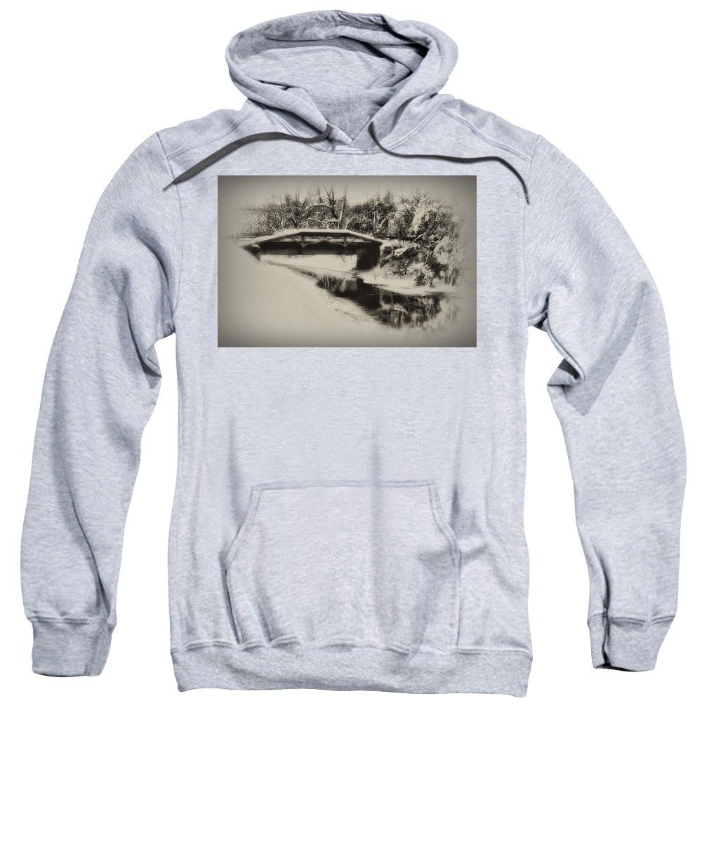 Delaware Canal Sweatshirt featuring the photograph The Delaware Canal At Washingtons Crossing by Bill Cannon