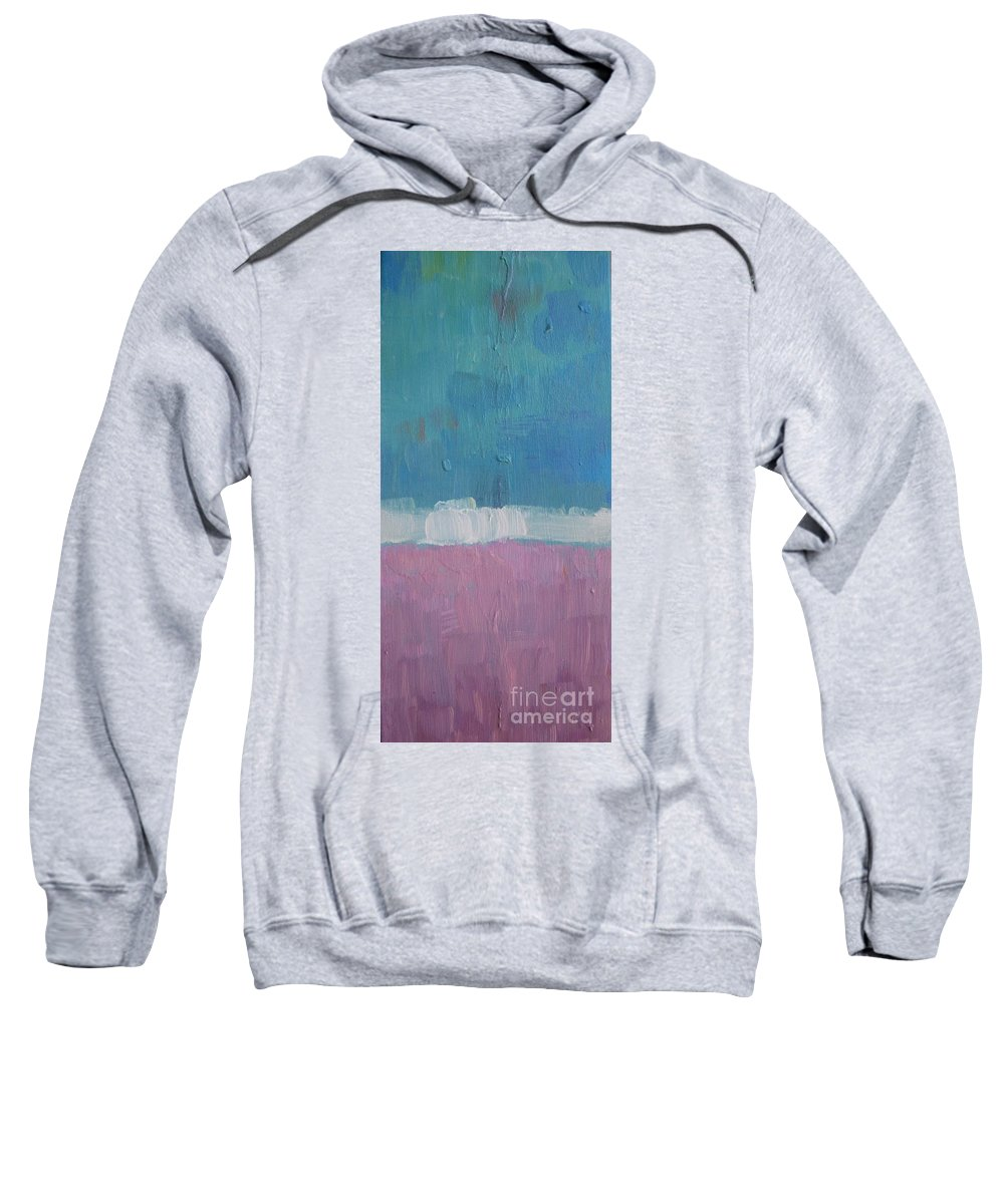 Abstract Sweatshirt featuring the painting The Divine Field Of Lavender by Vesna Antic