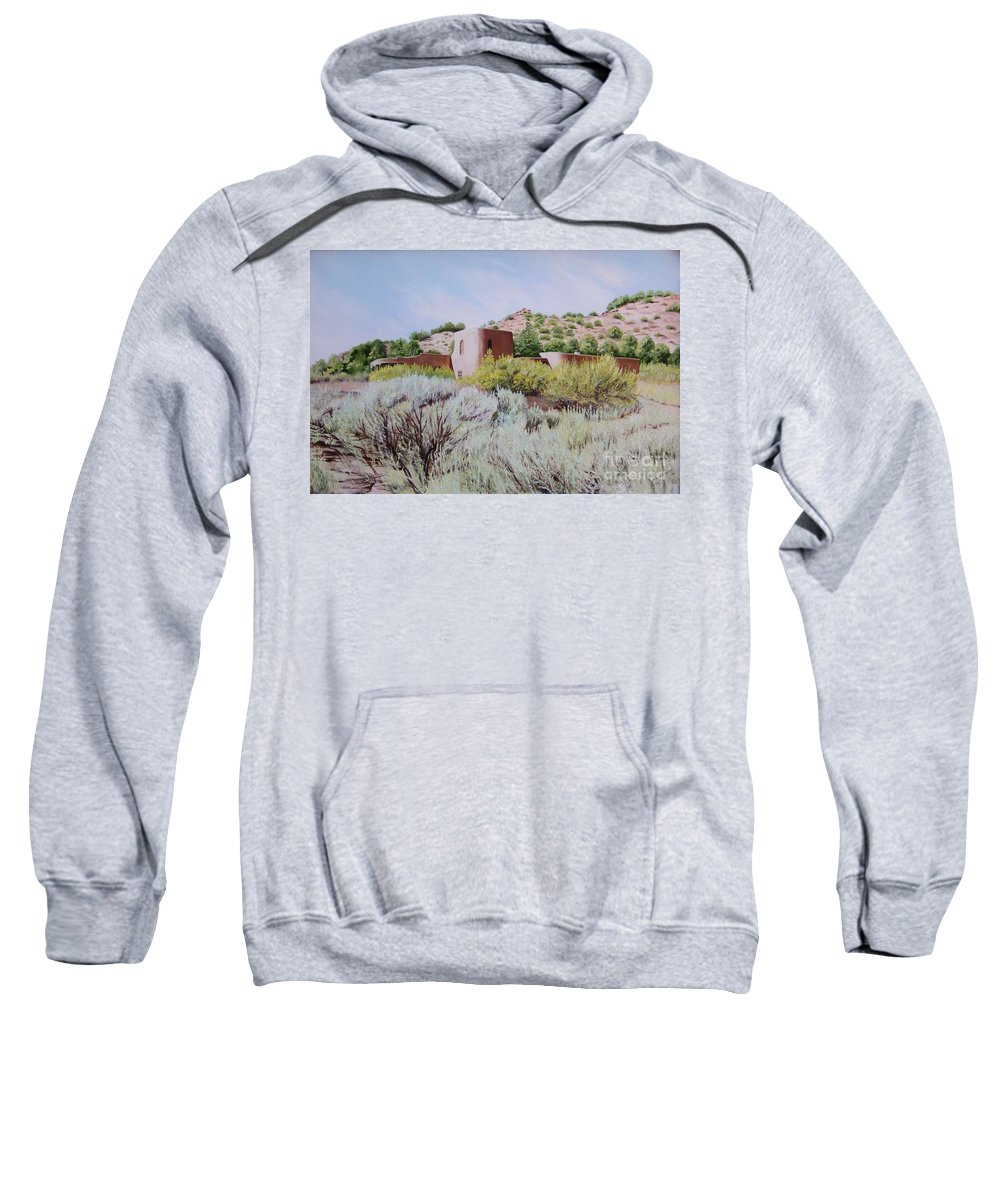 Usa Sweatshirt featuring the painting The Dixon House by Mary Rogers