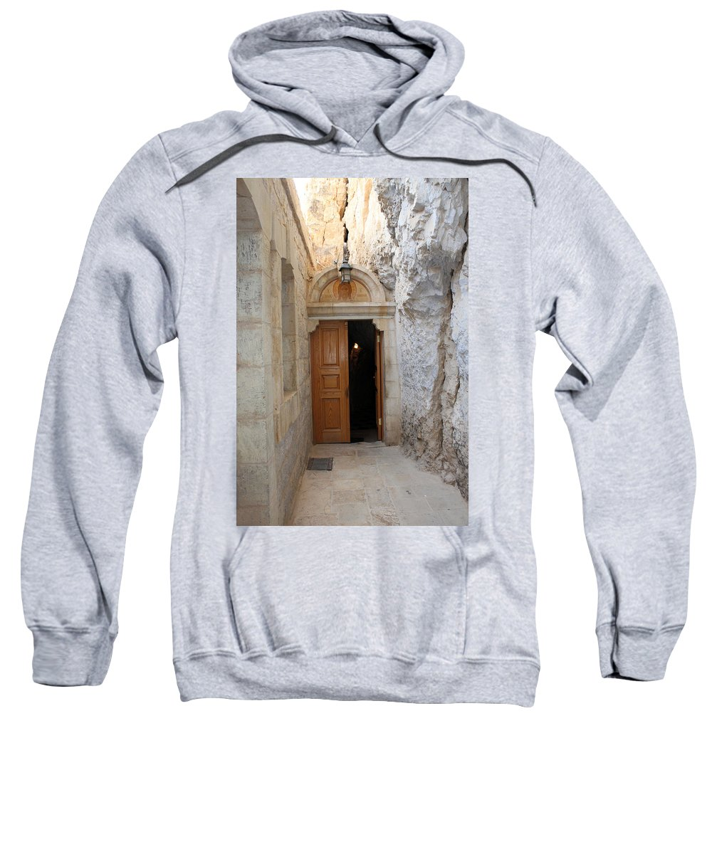 Photograph Sweatshirt featuring the photograph The Door by Munir Alawi
