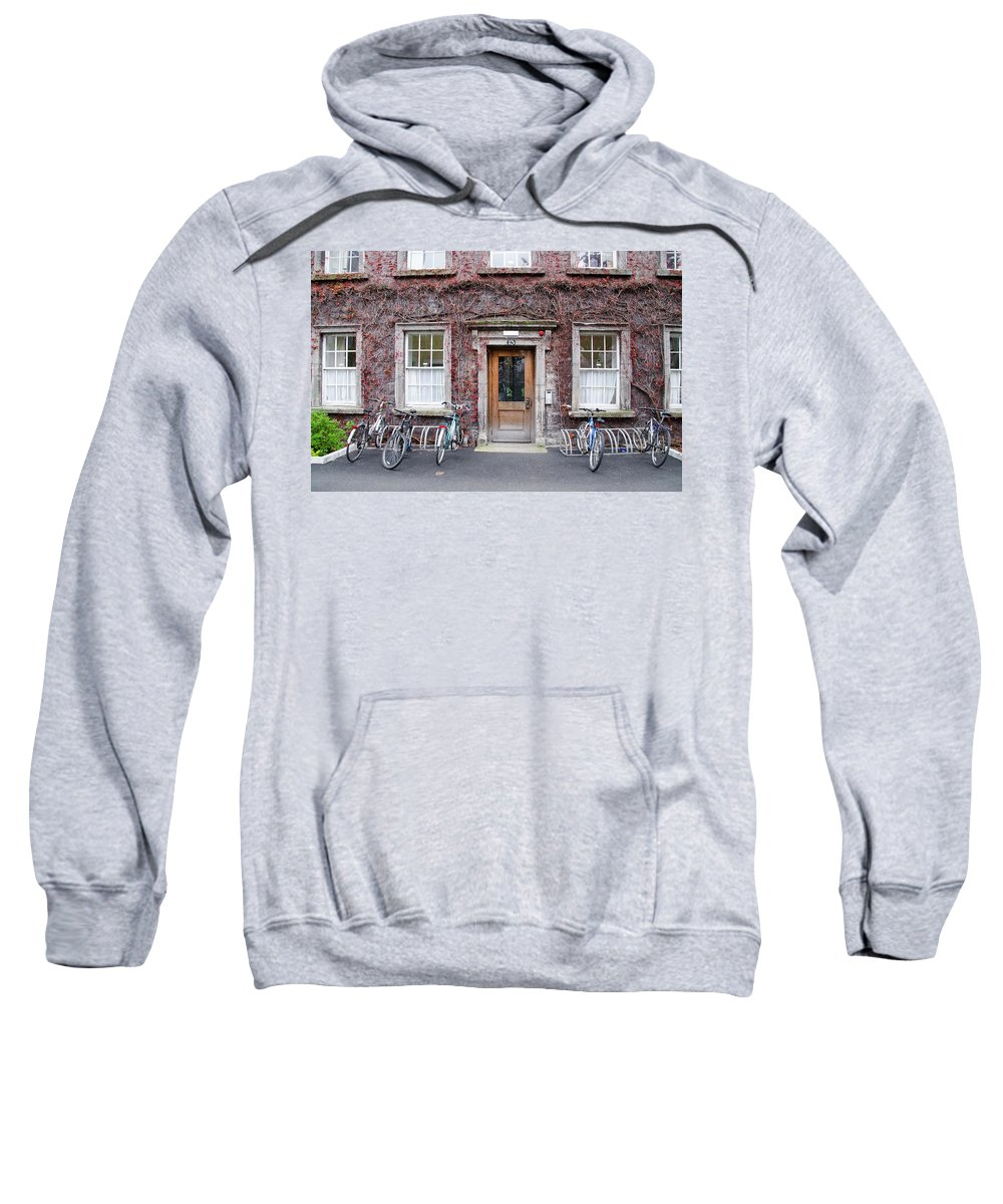The Sweatshirt featuring the photograph The Dorms At Trinity College Dublin Ireland by Bill Cannon