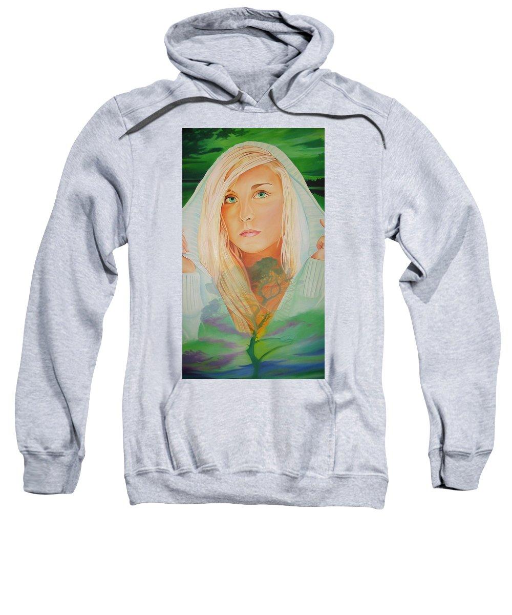 Beautiful Woman Sweatshirt featuring the painting The Dreaming Tree by Joshua Morton