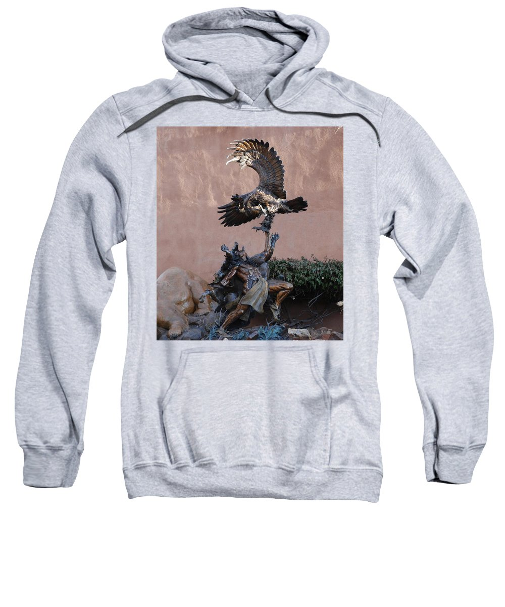 Eagle Sweatshirt featuring the photograph The Eagle And The Indian by Rob Hans