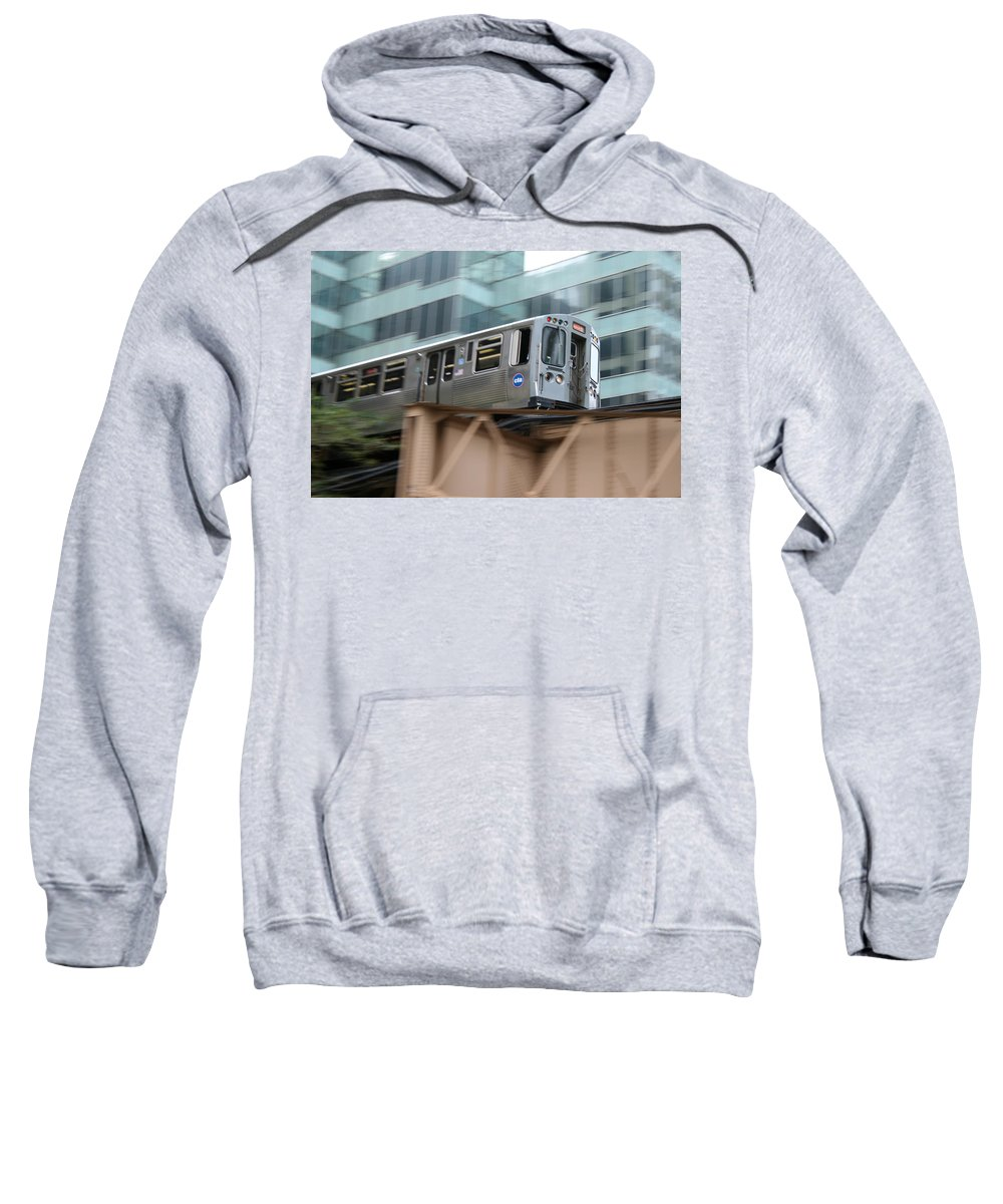 Cta Sweatshirt featuring the photograph The El by Laura Kinker
