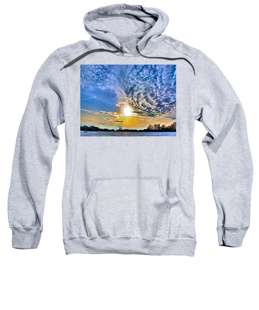 Related Tags: Hdr Artwork Sweatshirt featuring the photograph The End Of The Day by Robert Pearson