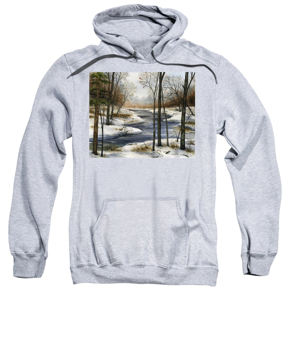 River Sweatshirt featuring the painting The End Of The Road by Mary Tuomi