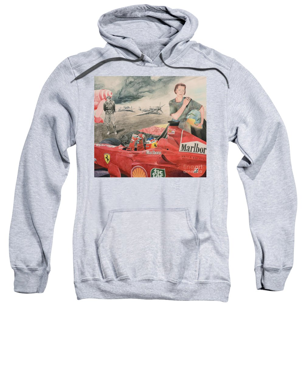 Luftwaffe Sweatshirt featuring the painting The Enigma Of Erich Hartmann by Oleg Konin