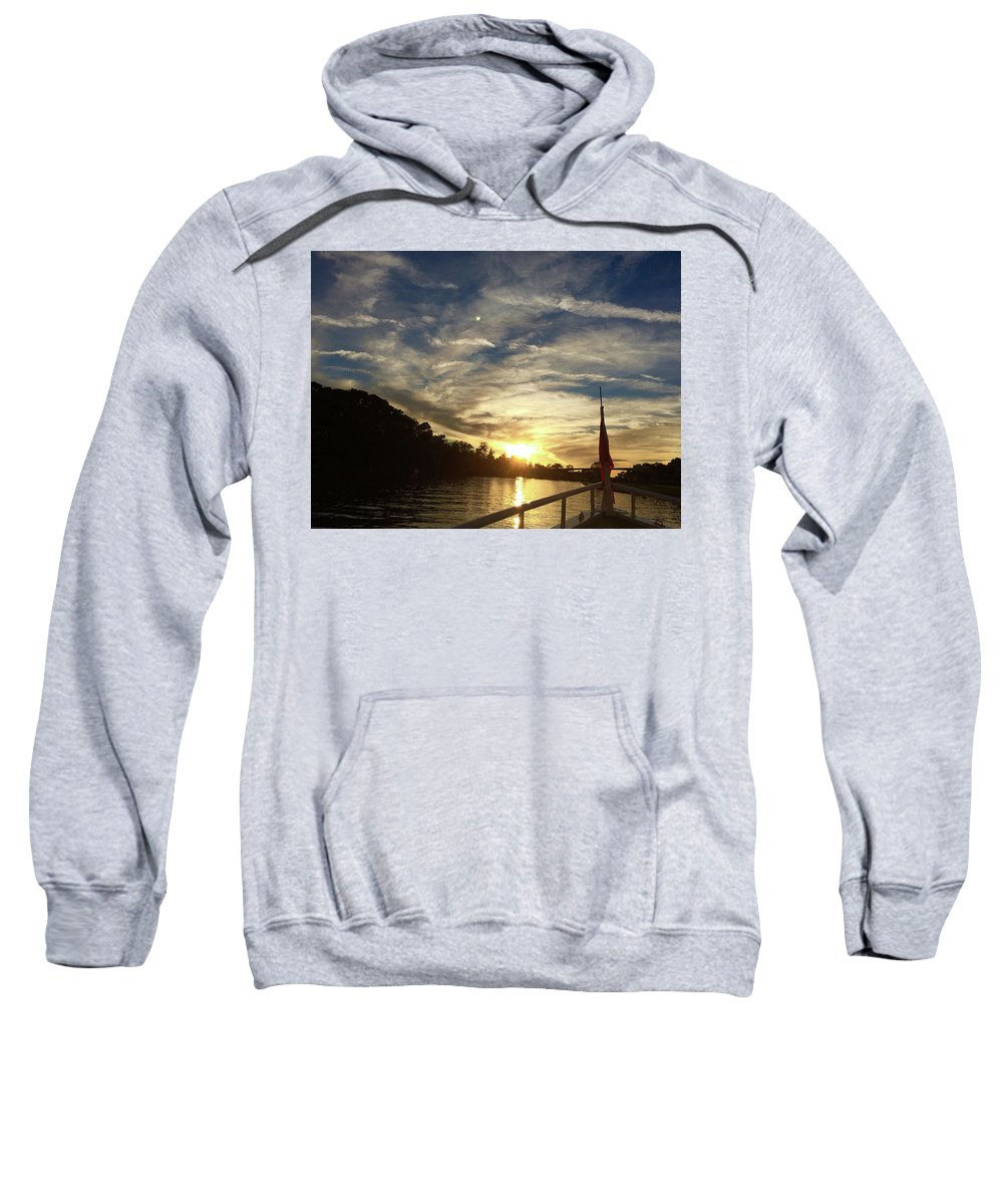 Sun Sweatshirt featuring the photograph The Envious Moon by Dana West