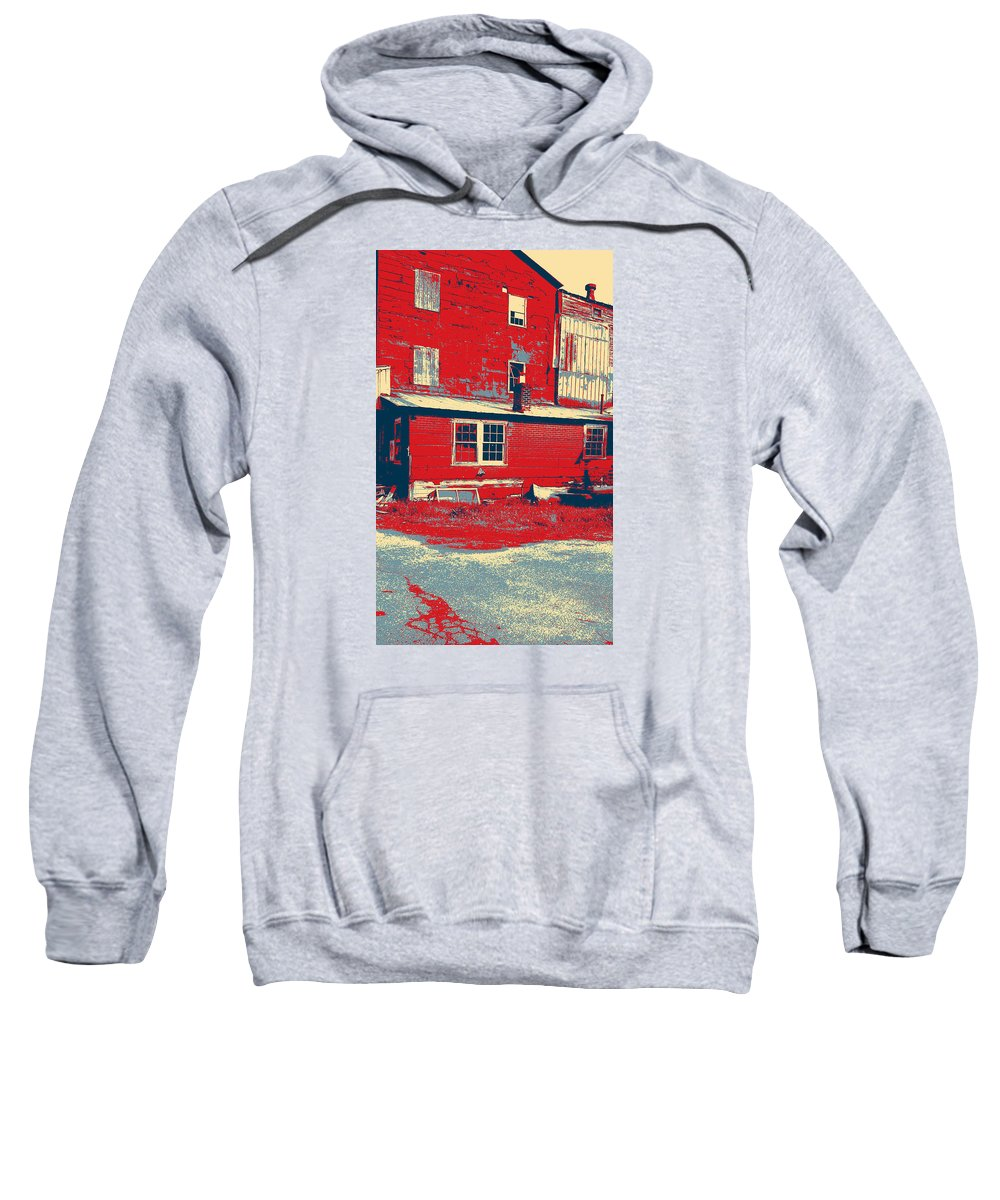 Country Sweatshirt featuring the photograph The Feed Store by Dawn Mullis